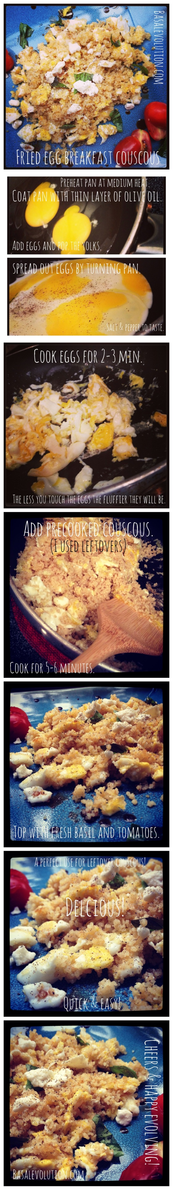fried egg breakfast couscous